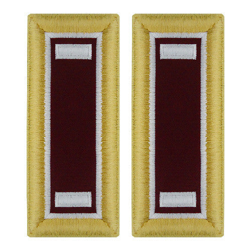 Army Shoulder Strap: First Lieutenant Medical - female