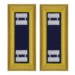 Army Shoulder Strap: Captain Chemical - female
