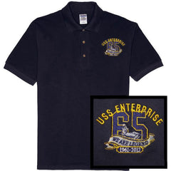 Polo Shirt: USS Enterprise CVN 65