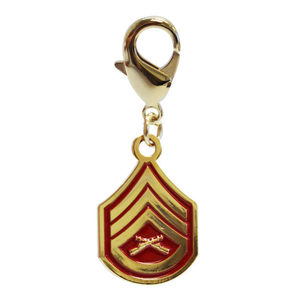 Pet Insignia Rank Charm  - SSGT