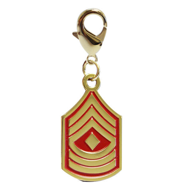 Pet Insignia Rank Charm  - 1ST SGT