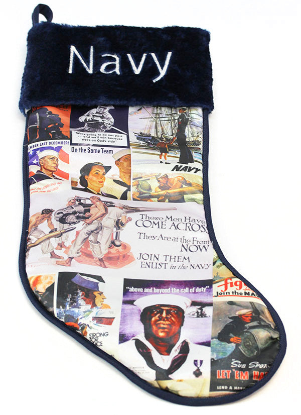 Navy Stocking: Vintage Posters