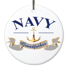 Ornament: Navy Grandfather
