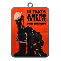 Ornament: Navy Poster - It Takes a Hero