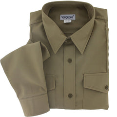Young Marine's Shirt: Male, Long Sleeve, Tan (Size Large)   **(ALL SALES FINAL)**