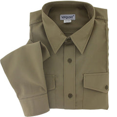 Young Marine's Shirt: Youth Male, Long Sleeve, Tan