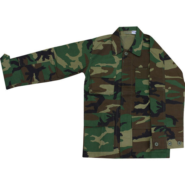 Camouflage Uniform: Youth All Weather BDU Shirt - Battle Dress Uniform