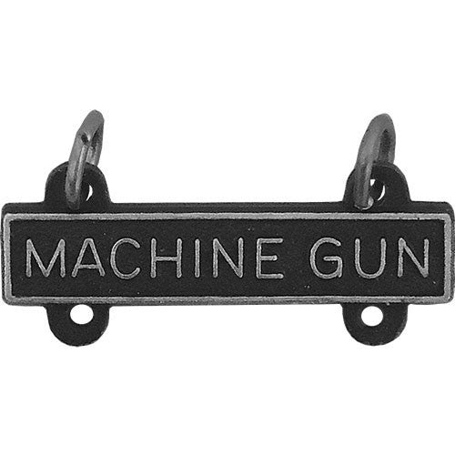 Army Qualification Bar: Machine Gun - silver oxidized finish