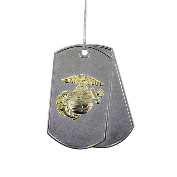 Christmas Tree Ornament: Marine Corps Dog Tags