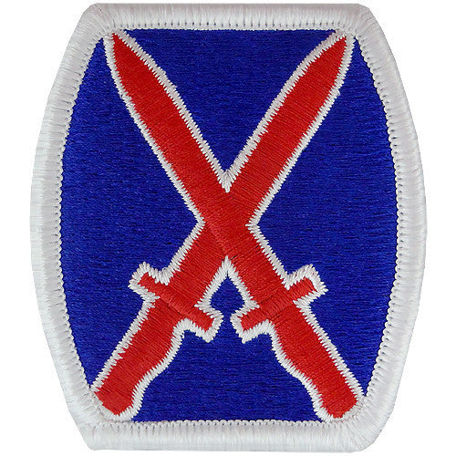 Army Patch: 10th Infantry Division - color