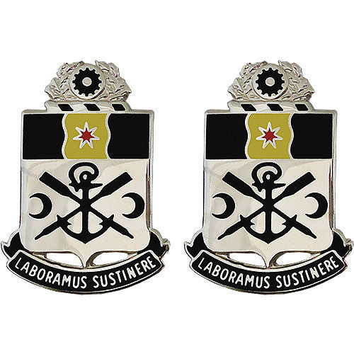 Army Crest: 10th Engineer Battalion - Laboramus Sustinere