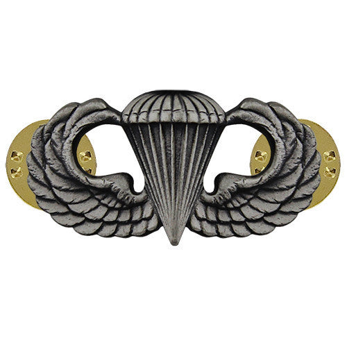 Navy Badge: Basic Parachutist - regulation size, oxidized