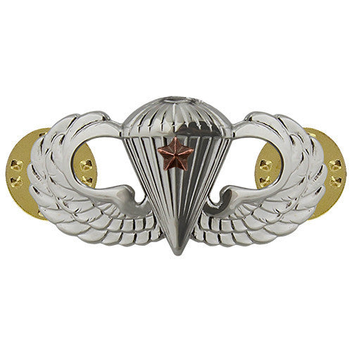 Army Badge: Combat Parachute First Award - mirror finish