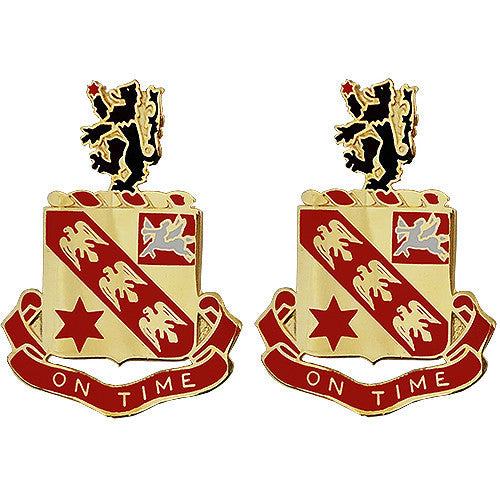Army Crest: 11th Field Artillery - On Time