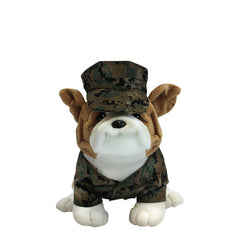 Marine Corps Mini Chesty Bulldog in Woodland Marpat with Cover 9
