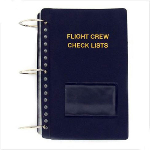 Vinyl Soft Cover Flight Crew Checklist Vanguard