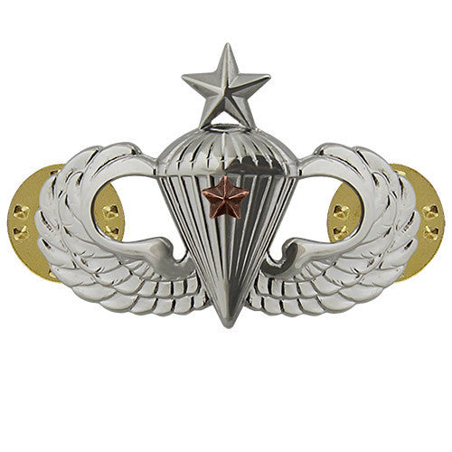 Army Badge: Senior Combat Parachute First Award - mirror finish