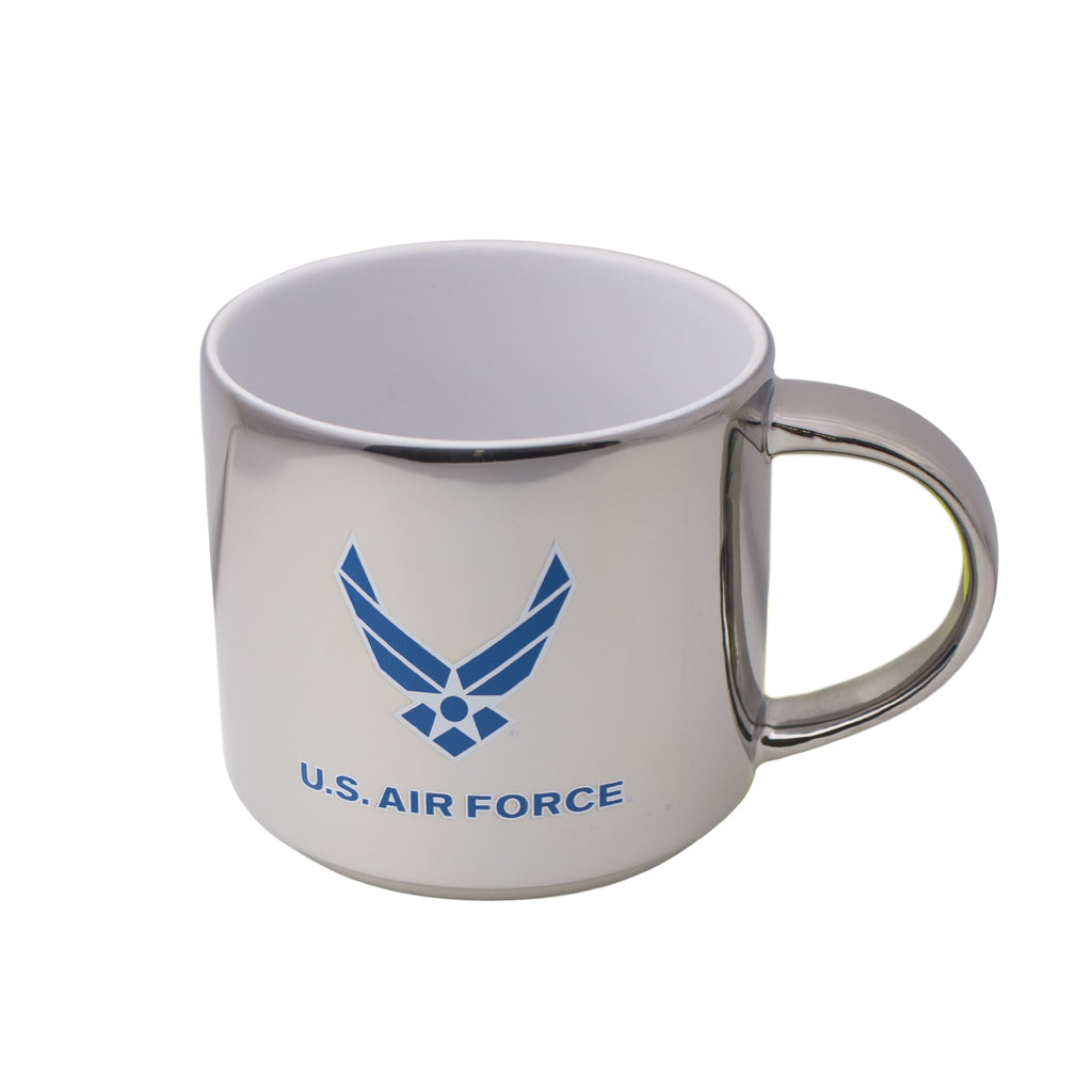 Air Force 16oz Mug: Platinum/White