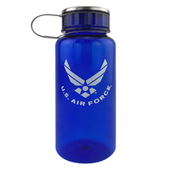 Air Force 34oz Water Bottle: Blue Plastic