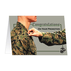 Marine Corps Greeting Card - Promotion