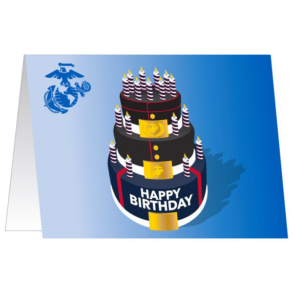 Marine Corps Greeting Card - Happy Birthday