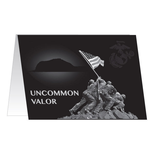 Marine Corps Greeting Card - Uncommon Valor