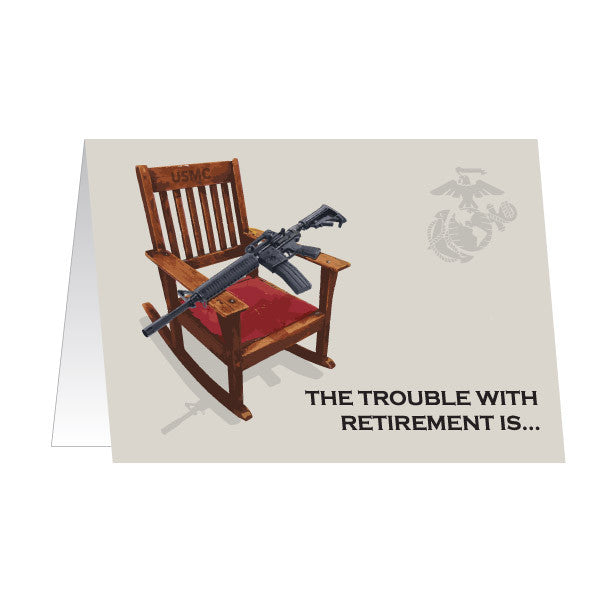 Marine Corps Greeting Card - Retirement