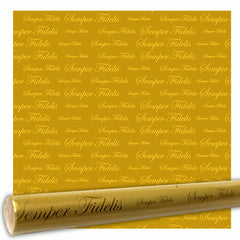 Wrapping paper: Semper Fidelis Gold Metallic