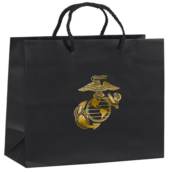 Gift Bag: BLACK WITH GOLD FOIL EGA