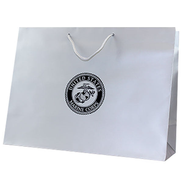 Gift Bag: SILVER WITH BLACK FOIL