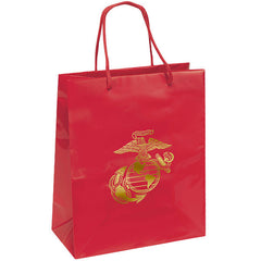 Gift Bag: GOLD EMBOSSED EGA ON MARINE RED