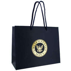 Gift Bag: Navy blue with gold USN emblem