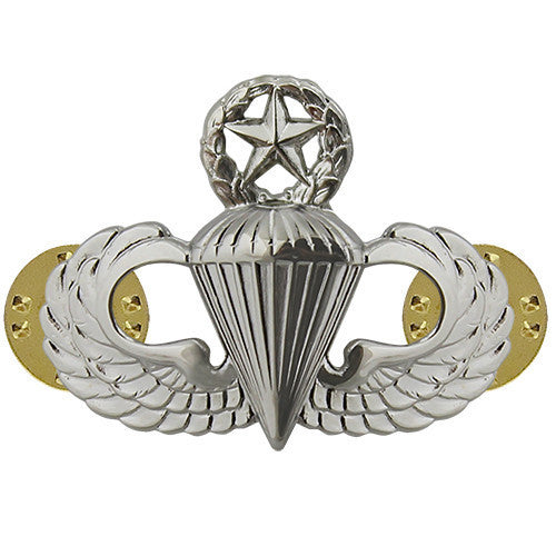 Air Force Badge: Parachutist: Master - midsize