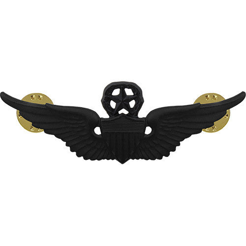 Army Badge: Master Aviator - regulation size, black metal