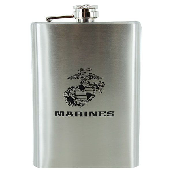Marine Corps Stainless Steel Flask: USMC Logo