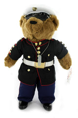 Marine Corps Enlisted Dress Blue Uniform Plush Bear 10