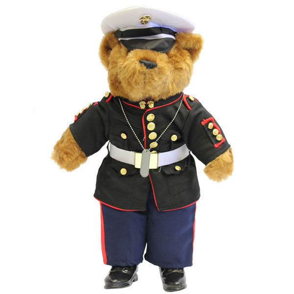 Marine Corps Enlisted Dress Blue Uniform Plush Bear 21