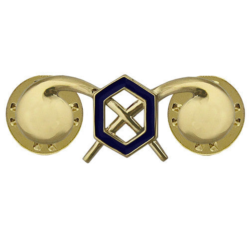 Army Officer Branch of Service Collar Device: Chemical - 22k gold plated