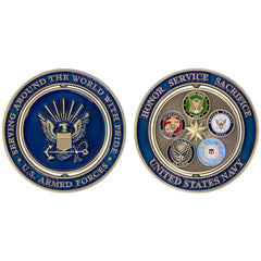 Coin: Navy Proud Military Family