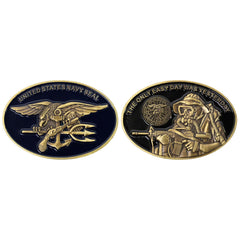 Coin: Navy Seal with Trident Oval