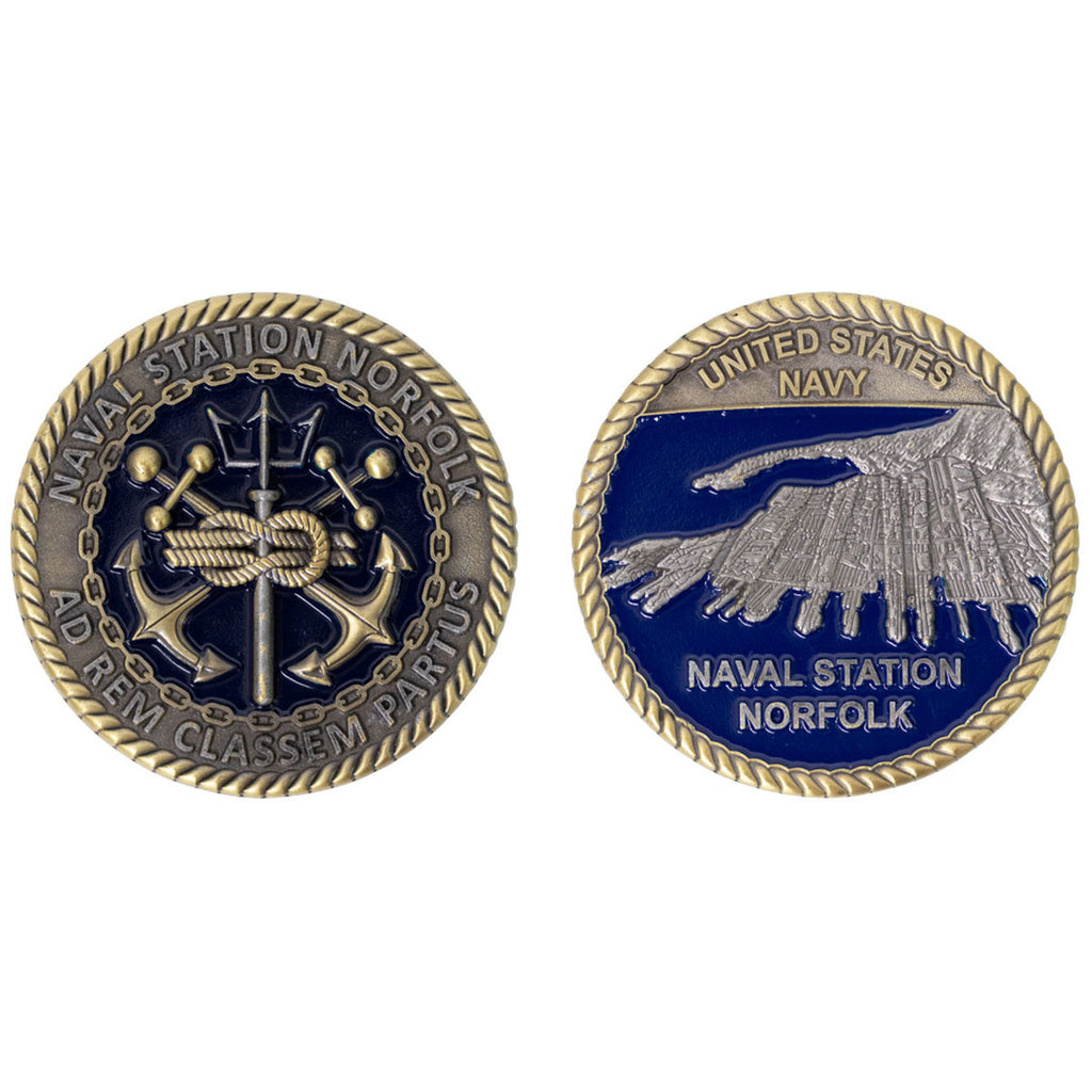 Coin: Norfolk Naval Station Port