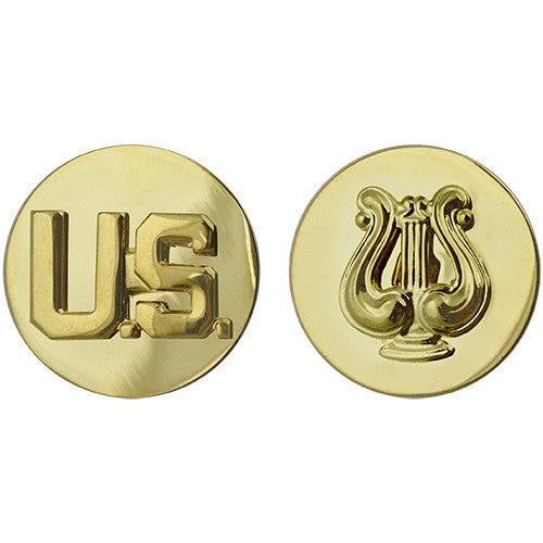 Army Enlisted Branch of Service Collar Device: U.S. and Musician