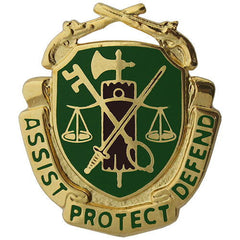 Army Corps Crest: Military Police - Assist Protect Defend