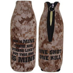 Marine Corps Desert Koozie: Bottle Cover with Zipper