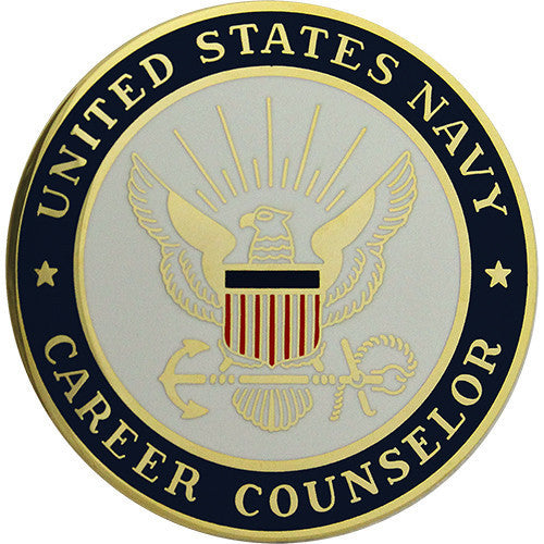 Navy Breast Badge: Career Counselor - regulation size