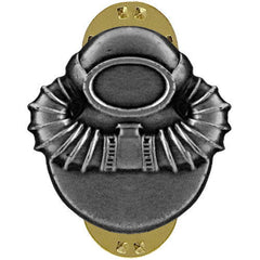 Badge: Scuba Diver - oxidized