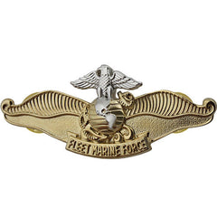 Navy Breast Badge: Fleet Marine Force Chaplain - regulation size