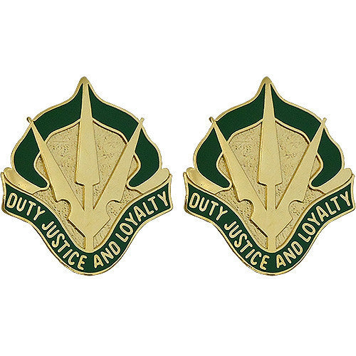 Army Crest: 15th Military Police Brigade - Duty Justice and Loyalty