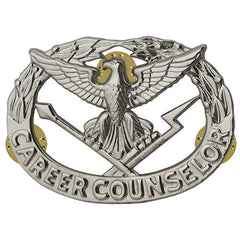 Army Badge: Career Counselor - miniature, mirror finish