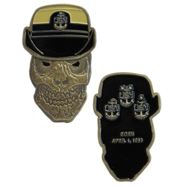 Coin: United States Navy Female Senior Chief Petty Officer Skull
